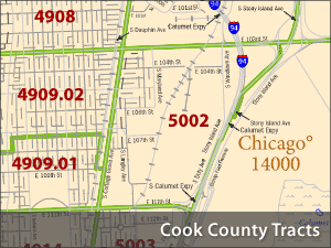 American Fact Finder Census Tracts for Cook County
