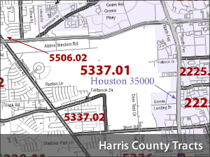 American Fact Finder Census Tracts for Harris County