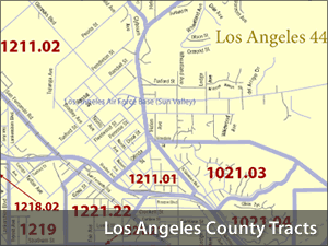 American Fact Finder Census Tracts for Los Angeles County